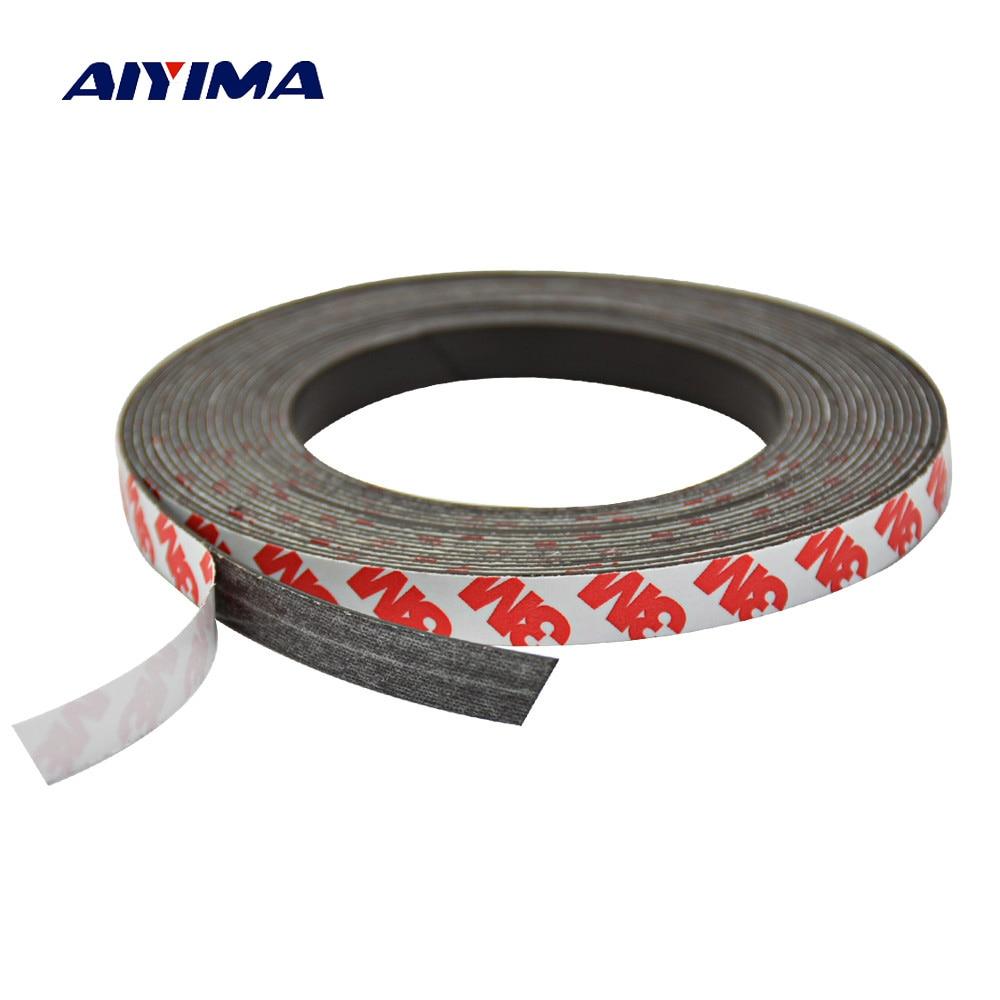 все цены на Aiyima 1M5M 10*1mm Stripe Magnets Rubber Soft Magnet Neodymium Strong Magnetic Tape Sheet Material онлайн