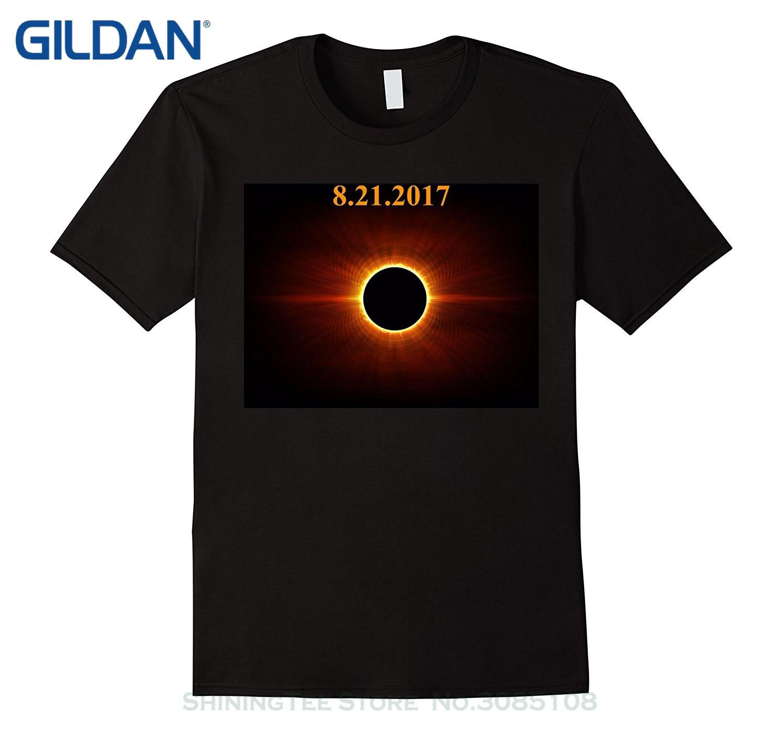 GILDAN 100% Cotton Short Sleeves Tee Shirts Total Solar Eclipse August 21 2017 T Shirt Astronomy Gift