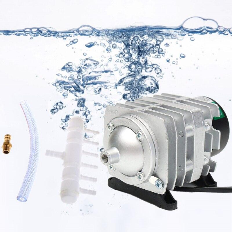 220 v 25 w/30 w/35 w/45 w Eletromagnética Aquário Compressor De Ar Super Alto Fluxo compressor Bomba de ar Do Tanque de Peixes Aerador Da Lagoa Do Jardim