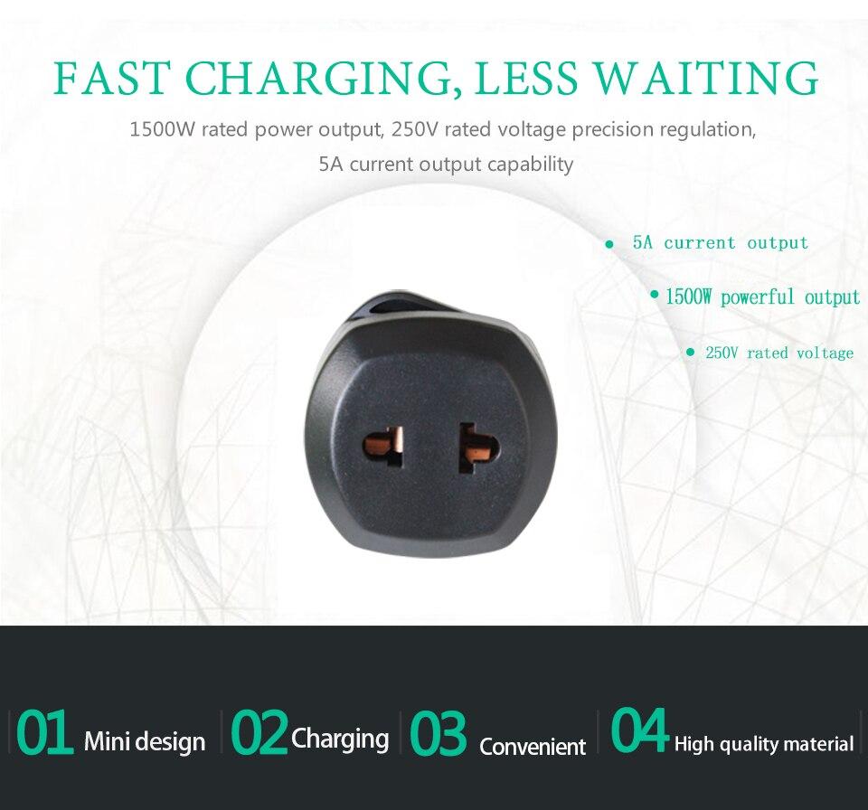 New Arrival 2019 Universal EU US AU to UK AC Power Socket Plug Travel Wall Charger Adapter Converter Electric plug power Adaptor (6)