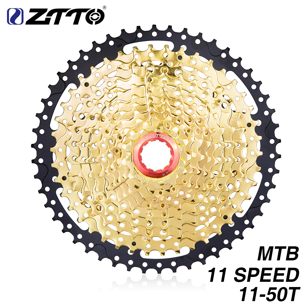 ZTTO 11s 50T SL Black Gold MTB Cassette Mountain Bike Bicycle Parts Sprockets 11 11v 22s 11 Speed Freewheel K7 for XT X1 X01 X1 in Bicycle Freewheel from Sports Entertainment