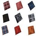 Bufandas Pañuelo Pañuelos de Bolsillo de Los Hombres de La Vendimia de moda Pañuelos Cuadrados de Mocos de Trapo de Algodón de Rayas Sólido 25*25 cm
