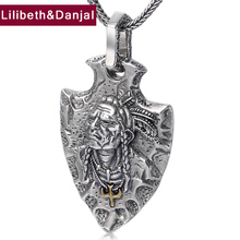 Jewelry Eagle Pendant Chief Indian Women 100%925-Sterling-Silver New Flying P9 Christmas-Gift