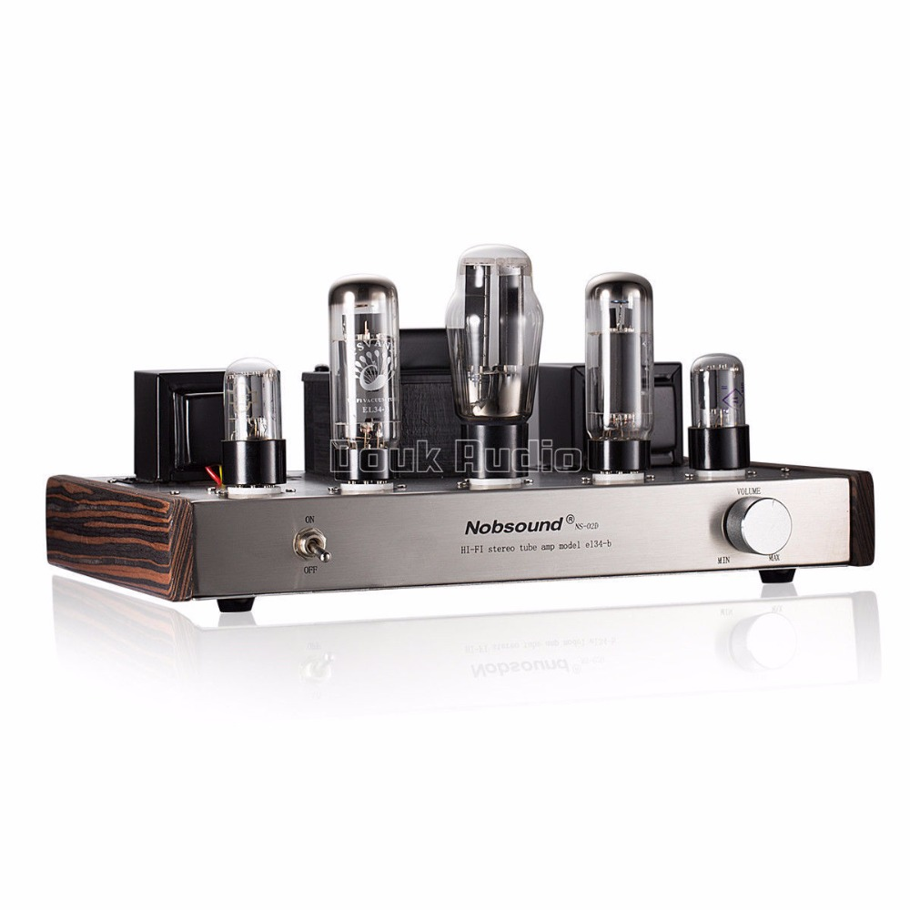 2018 Latest Nobsound Handmade EL34 Valve Tube Amplifier Single ended 2.0 Channel HiFi Class A Stereo Power Amplifier