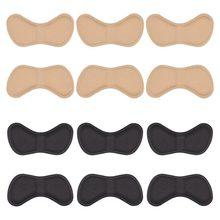Hot-6 pares de pegatinas para tacones almohadillas de talón suelas de talón para un mejor ajuste de zapatos y comodidad, negro + Beige
