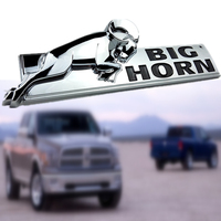 1pc BIG HORN Car Styling Badge ABS Car Ram Pickup Truck Emblem Chrome For 2014 4x2