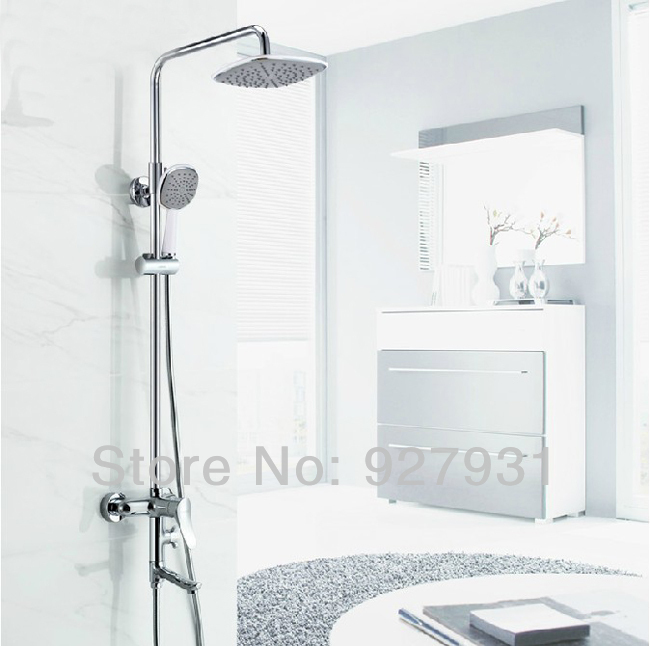 Online Shop Chrome Finished New Design Bathroom Shower Faucet Tap Wall Mounted Mixer Rainfall Bath