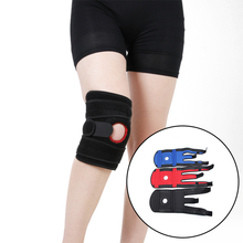 1PCS Adjustable Sports Training Elastic Knee Support Brace Kneepad Patella Pads Hole Safety for Volleyball