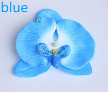 11cm large orchid heads----silk flower heads to make door wreath,hair clips,corsage,chair decoration