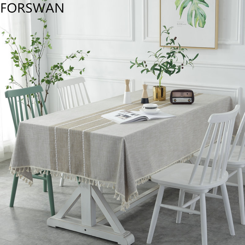 FORSWAN towel table rectangularTablecloths Restaurants Home Hotel Dustproof Tablecloth Wedding Party Table Cover Towel