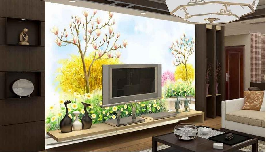 High Quality Custom Photo Wallpaper 3D Hand-painted garden Living child Room Backdrop Wall Mural Art Painting Mural Wall Paper custom baby wallpaper snow white and the seven dwarfs bedroom for the children s room mural backdrop stereoscopic 3d