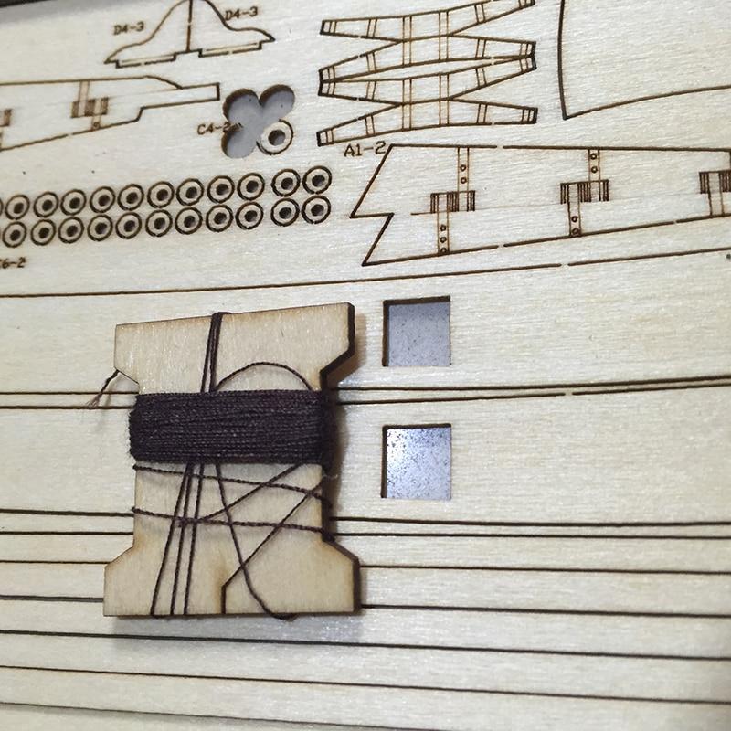 Купить с кэшбэком Halcon 1840 Wooden Ship Sailboat Model Educational Toy Boat DIY ship model Souptoys Gifts for ChildrenFree shipping worldwide
