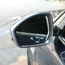 Chrome ABS Both Side Rearview Mirror Cover Trim 2pcs For Jaguar F-Pace X761 2016 Car Styling Organizer