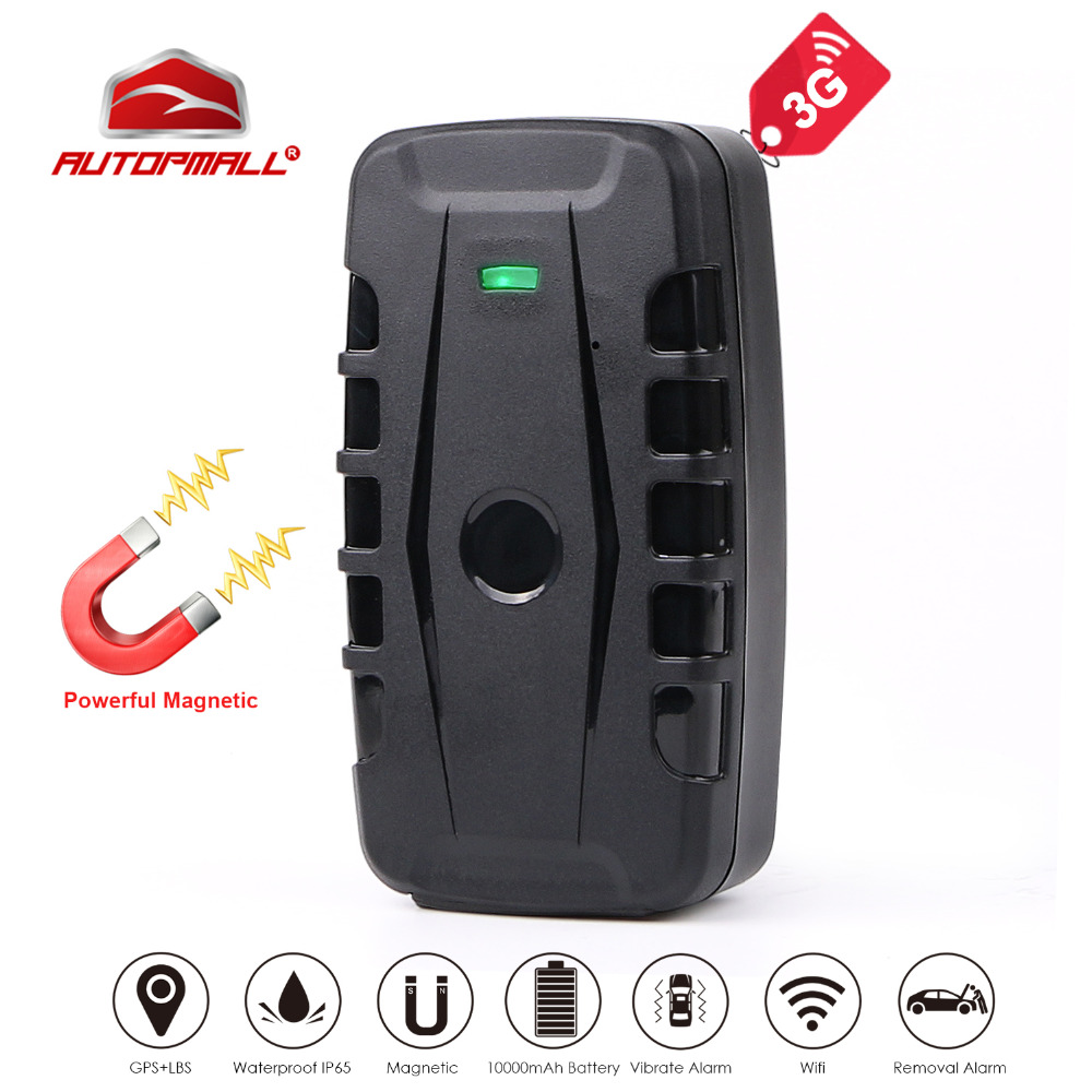 3G GPS Tracker Car GPS Locator 120 Days Standby Time Magnet Waterproof Vehicle Tracker Voice Monitor Removal Alarm Free Web APP car gps tracker vehicle tracking device gsm locator 5000mah battery standby 60 days waterproof magnet free web app monitor