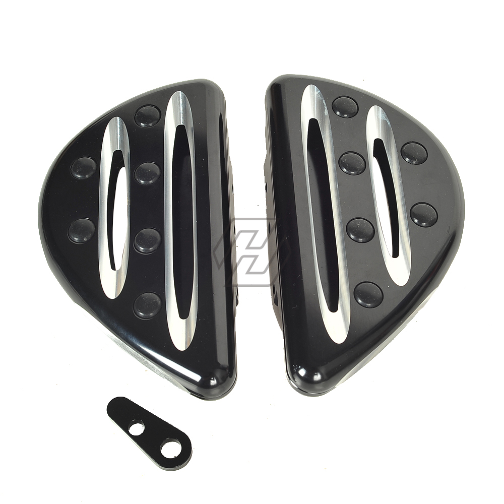 a09d0c16862c Black CNC Aluminum Machined Deep Cut Style Floorboard case for Harley  Electra Glide 1996-2014