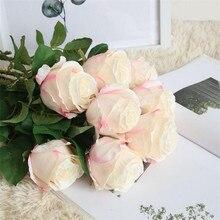 Flone Искусственный цветок розы филиал Поддельные Шелковый цветок Моделирование Букет роз Свадебный дом украшение партии расположение Цветочные