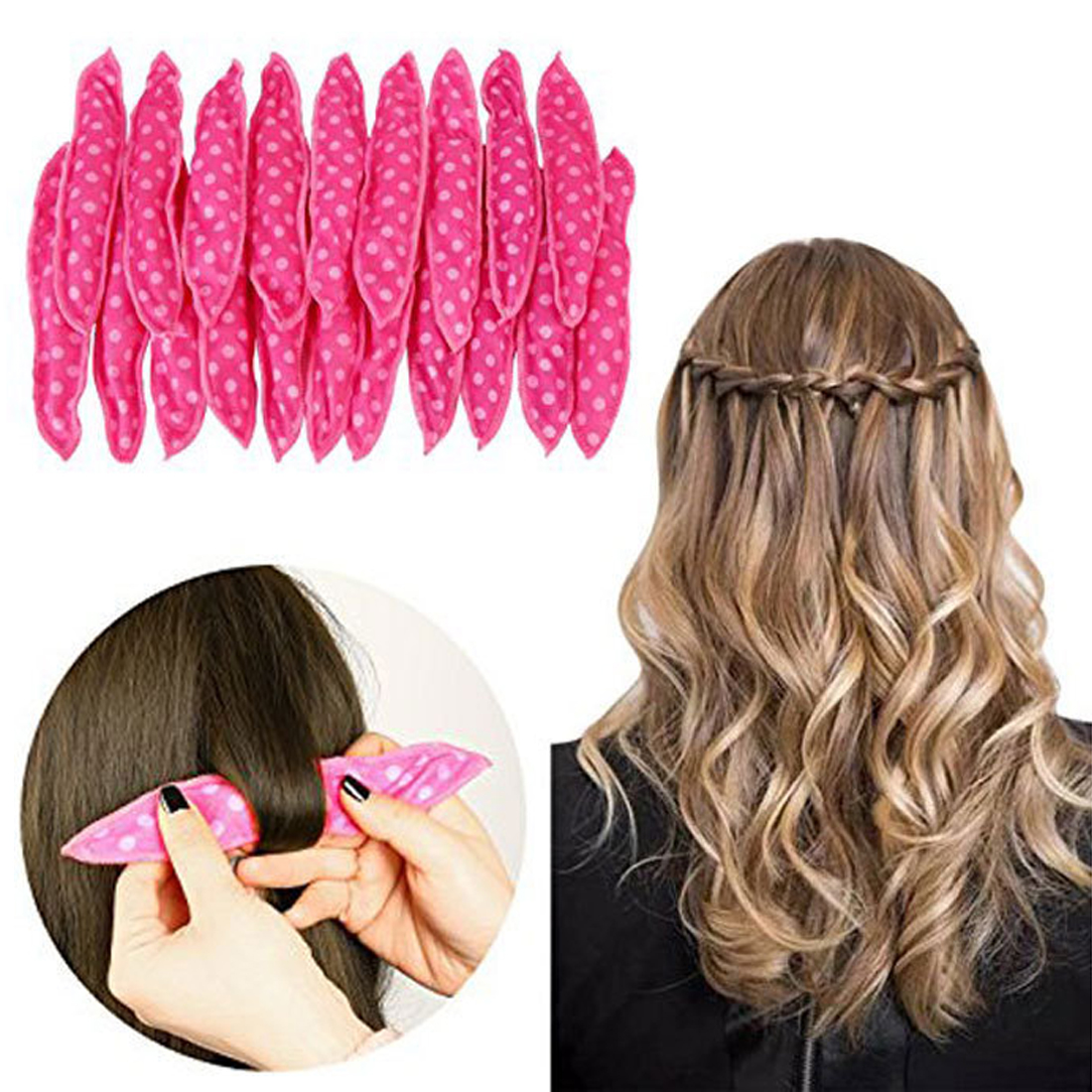 Cute Rabbit Ear Magic Sponge Pillow Soft Roller Hair Best Flexible Foam Sponge Hair Curlers DIY Styling Hair Rollers 6PCS/Set