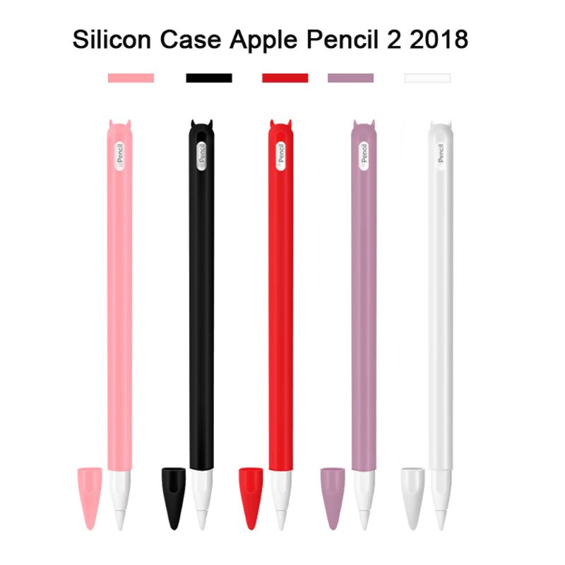 Portable Soft Silicon Case Protective Cover Skin For Apple Ipad Pro Pencil 2nd