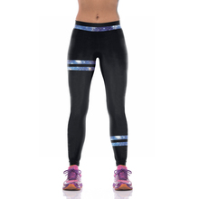 NEW KYK1091 Sexy Girl Women Star Galaxy Black Patchwork 3D Prints High Waist Running Fitness Sport
