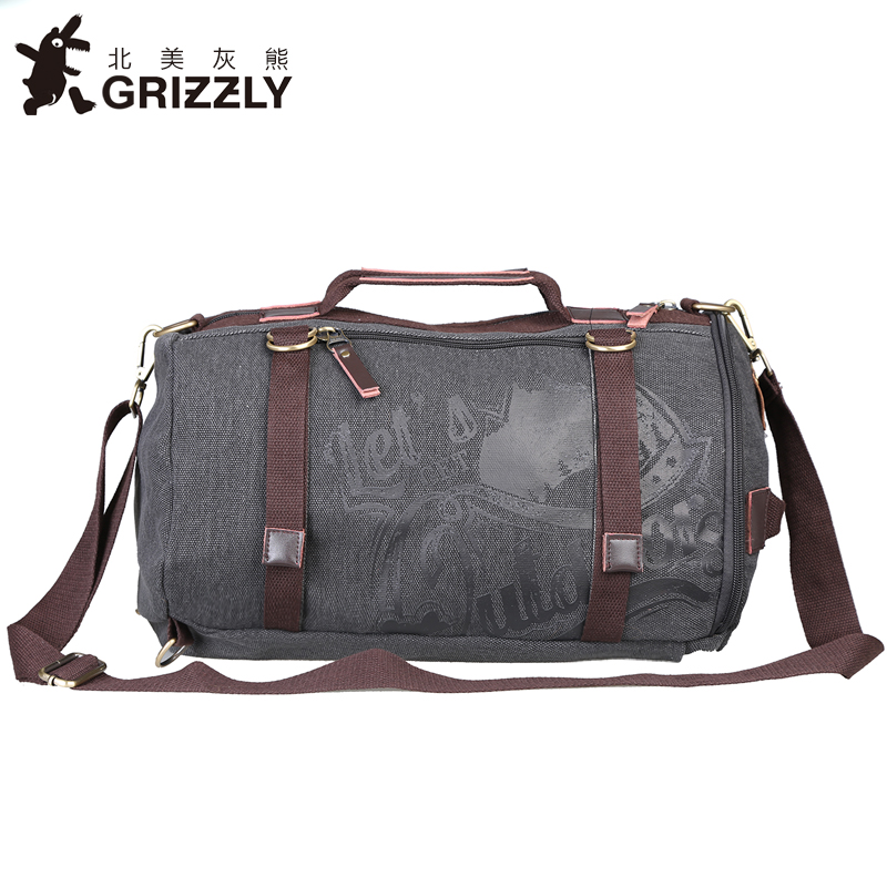 GRIZZLY Men Women Backpacks Casual Mochila Multifunction Big Capacity Canvas Bags Rucksack Outdoors Travel Bag For Teenager grizzly new laptop backpack men for teenager boys fashion large capacity mochila multifunction travel bags waterproof school bag
