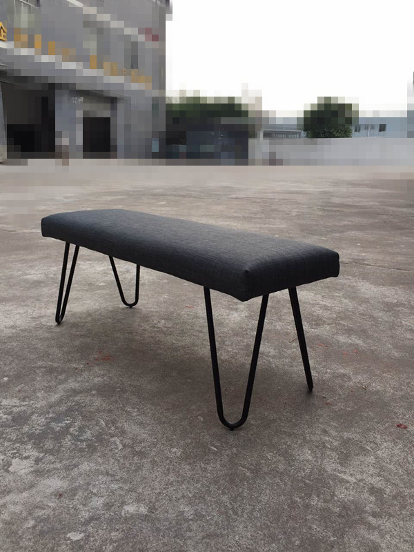 HOT SALE    46.9 long contemporary modern metal velvet bench stool ottoman living room chair made in China modern home ottoman dressing stool changing room chair wedding chair decorations