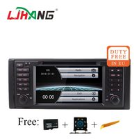 LJHANG 1 Din Car DVD Stereo for BMW E39 X5 M5 E38 E53 GPS Navigation Multimedia Player Auto Radio Bluetooth Mirror Link RDS USB
