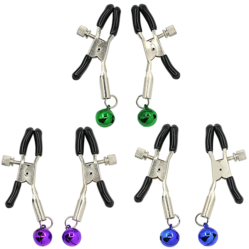 One Pair Adult Sexy Beautiful Product Ladys Nipple Adornment Bell Clip Non Piercing sex toys 024X 2SAZ