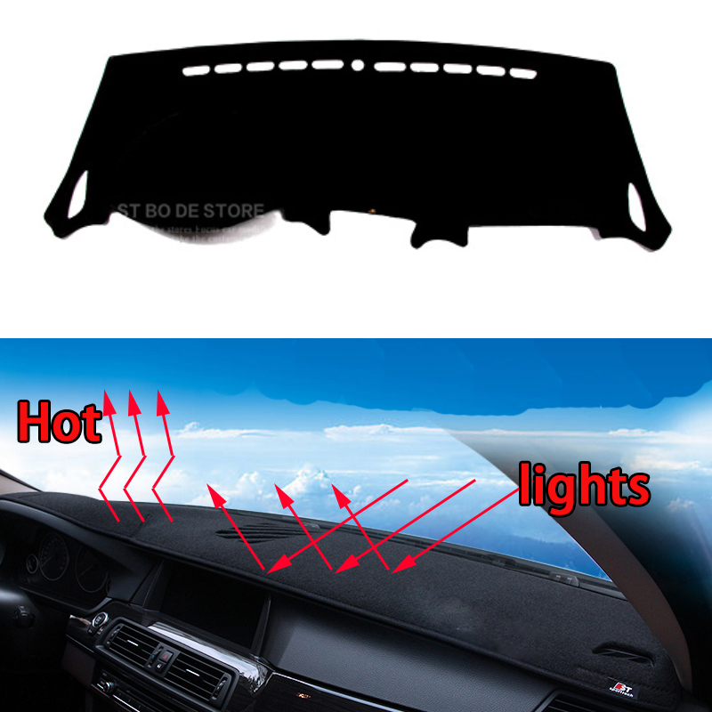 Car dashboard Avoid light pad Instrument platform desk cover Mats Carpets Auto accessories car styling for kia carens speed for toyota crown 2004 2016 double layer silica gel car dashboard pad instrument platform desk avoid light mats cover sticker