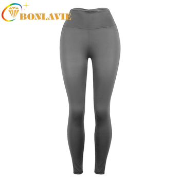 Women Leggings Sport Pant Warm Breathable Thin Pants Solid Color Pink Red Black Dark Grey Trousers Fitness Legging image