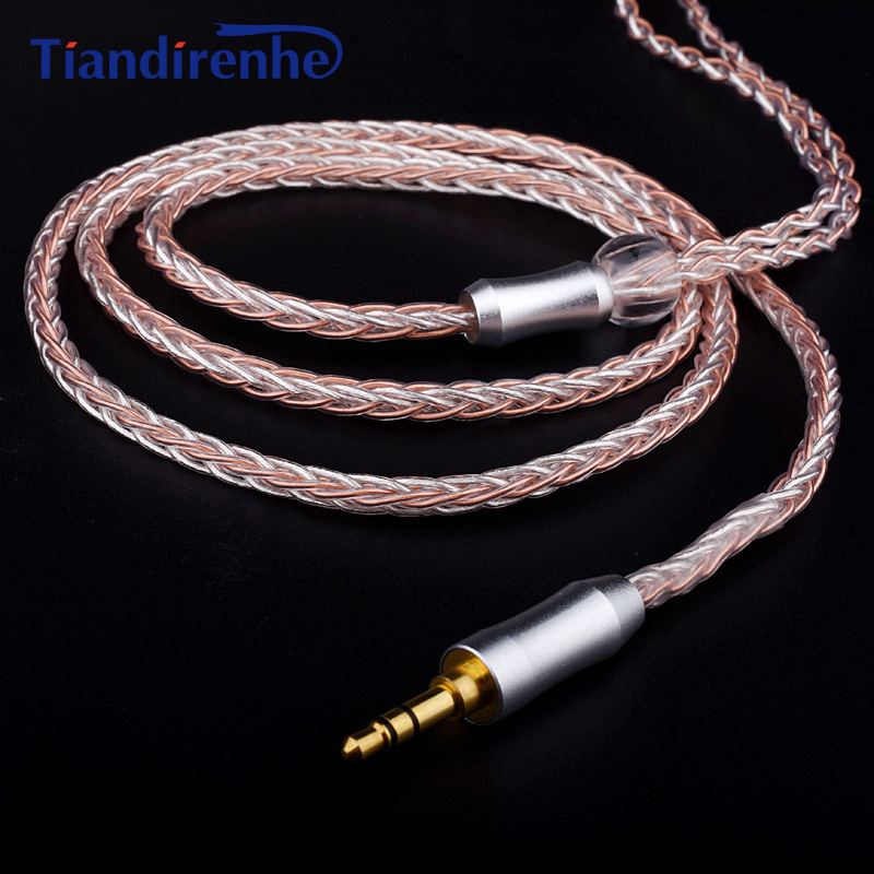 8 Core DIY MMCX Cable 2.5mm Balance Plug Custom for Shure SE215 SE535 SE846 UE900 Silver Plated Headset Line for Sony Player areyourshop 5pair black silver rhodium plated earphone pin atl style for mmcx um60 ue900 se535 se215