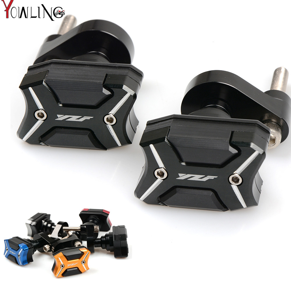 YZF logo Motorcycle Frame Crash Pads Engine Case Sliders Protector For Yamaha YZF R6 2009 2010 2011 2012 2013 2014 2015 2016 motorcycle cnc aluminum frame sliders crash pads protector suitable for kawasaki z800 2012 2013 2014 2015 2016 green