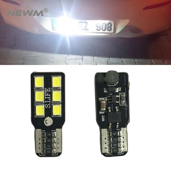 2x T10 6 SMD 2835 Car LED License Plate Auto Canbus Light W5W 168 194 For Opel Adam Corsa C Corsa C Combo Corsa D Astra H фото