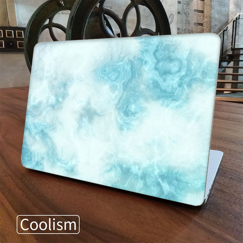 Blue Marble Grain Laptop Skin Sticker Decal for Macbook Sticker Pro Air Retina 11 12 13 15 inch Mac Protective Full Cover Skin