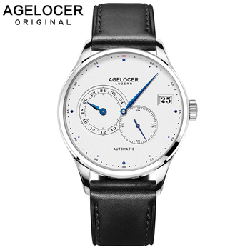 AGELOCER New Luxury Brand Mechanical Watches Business Men Watch Self-Wind Automatic Fashion Waterproof 50m Wristwatch top luxury men automatic mechanical watch brand original binger watches self wind sapphire ceramic wristwatch 24 hours display