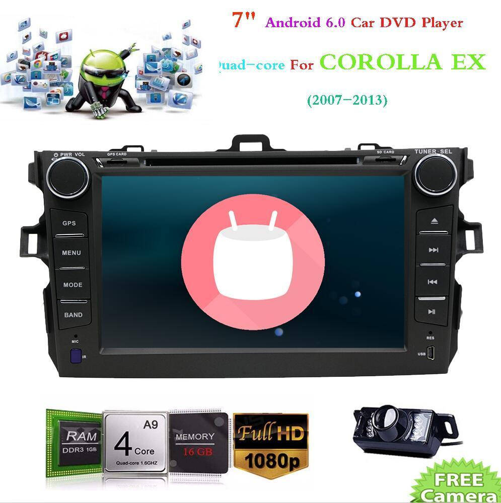 For Toyota Corolla Android 6.0 Car Radio GPS DVD Stereo Radio WIFI Touch+Camera