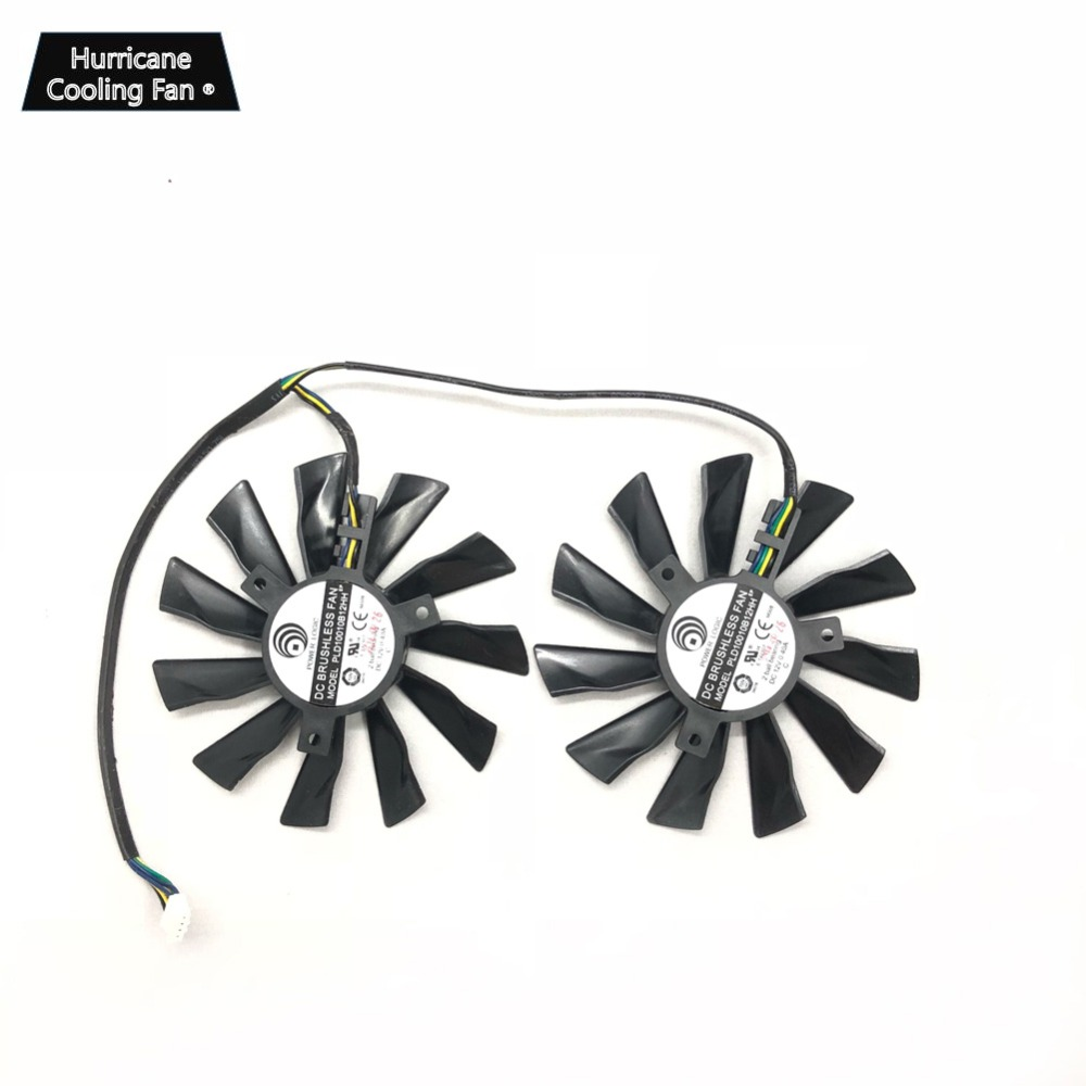 Image 3 - New PLD10010S12HH 95mm 4Pin Graphics Card Cooling Fan for MSI GTX 780Ti/780/760/750Ti R9 290X/290/280X/280/270X GAMING Cooler-in Fans & Cooling from Computer & Office