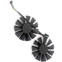 2pcs Lot STRIX GTX960 GTX950 GTX750Ti Graphics Card Fan Computer VGA Cooler Fans For ASUS Video