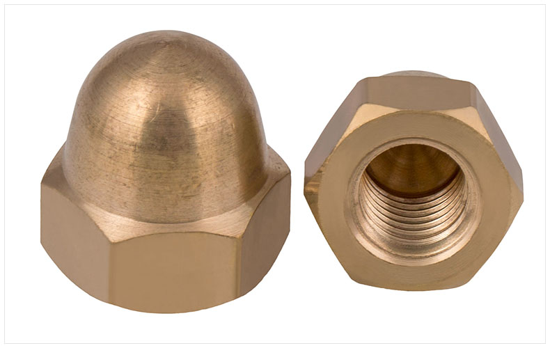 GB923 copper cap nuts half round Hexagon nuts M3 M4 M5 M6 M8 M10 M12 M14 M16 M18 M20 nut Decorative nut ball screw cap din934 304 stainless steel hexagon nuts left reverse thread m4 m5 m6 m8 m10 m12 m14 m16 m18 m20 nut cap screw cap