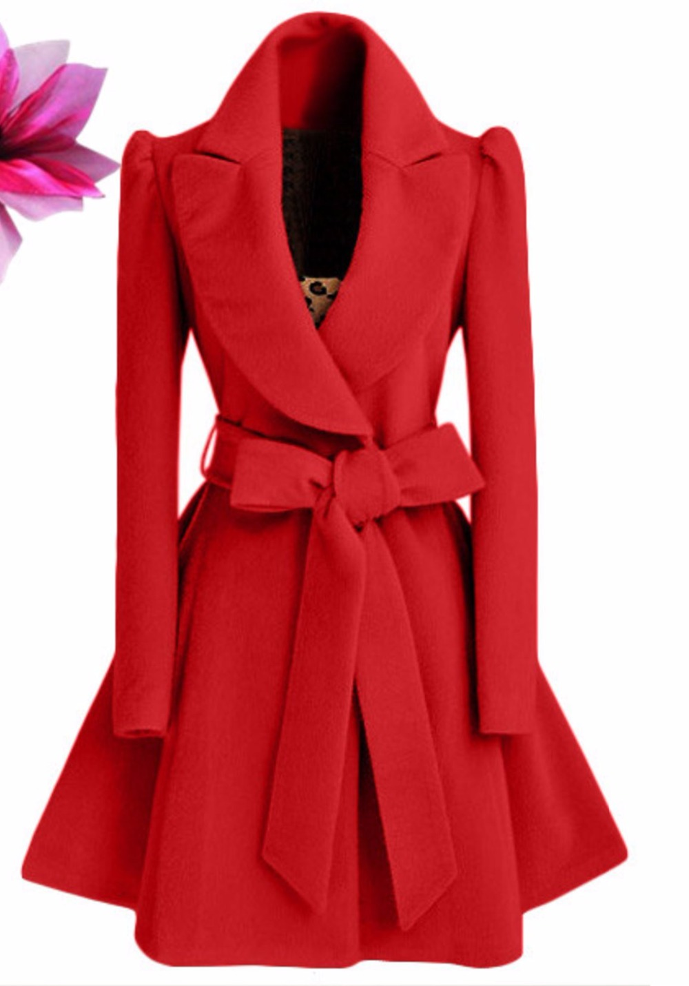 Popular Wool Coat Women with Bow-Buy Cheap Wool Coat Women with ...