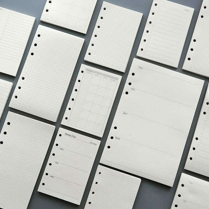 45 листов 100 г «сделай сам», спиральная бумага для блокнота A5, A6, бумага для еженедельного и ежемесячного журнала s, клетчатая бумага с пустыми ...