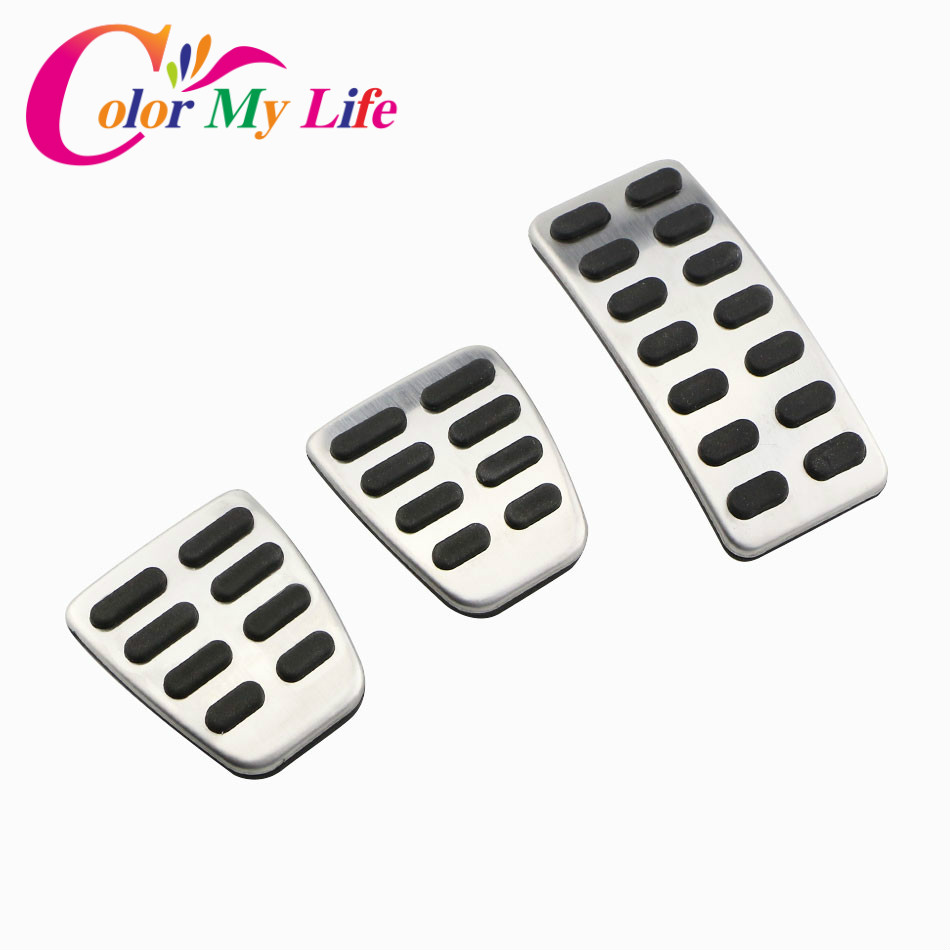 Stainless Steel Car Accelerator Gas Brake Pedal Clutch Pedals Case for Hyundai Verna Solaris Sedan Hatchback 2012 - 2015 Parts