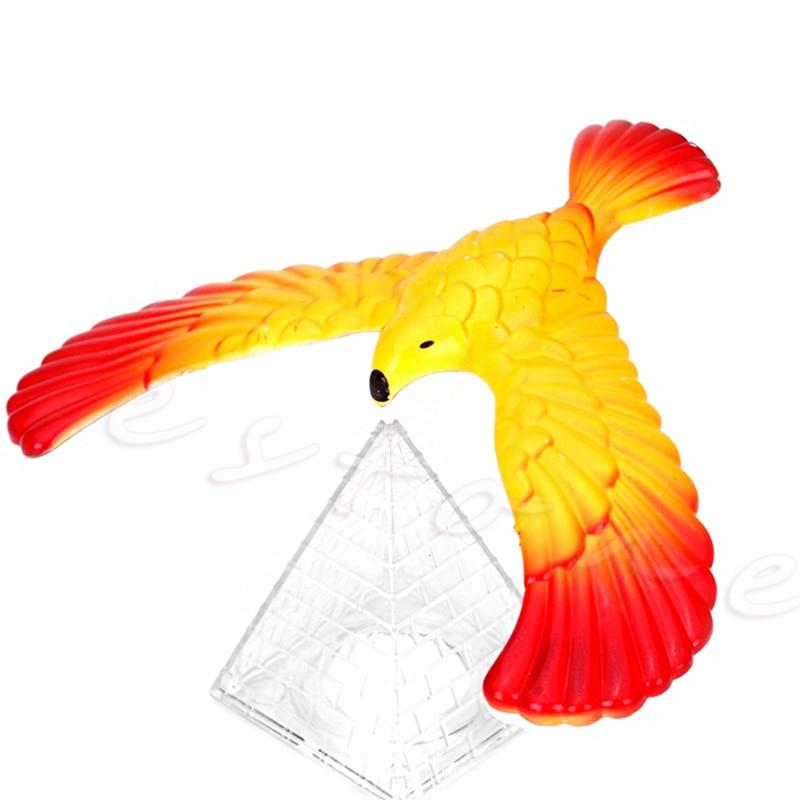 2018 Drop shipping Magic Balancing Bird Science Desk Toy w/ Base Novelty  Eagle Fun Learn Gag Gift fun desk
