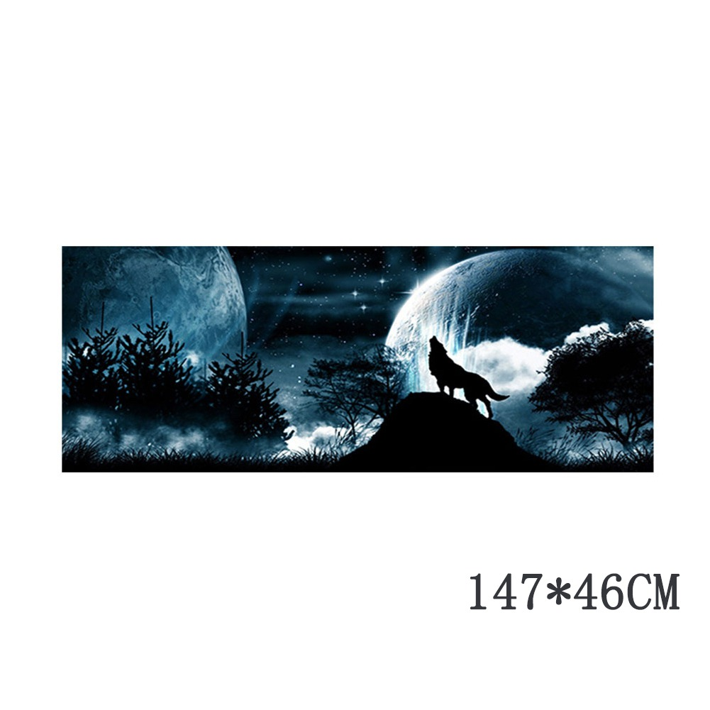 Car & Truck Parts Wolf Howling At Night Cool Snow Moon Sky Galaxy ...