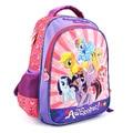 2017 новых детей мультфильм my little pony школьный девушки прекрасный рюкзак школьный Для детей дети Рождественский подарок сумки SDH