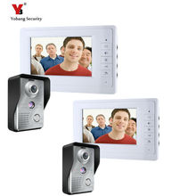 Yobang Security 7 inch Wired Video Door Bell Phone System Video intercom equipment Home Security Video