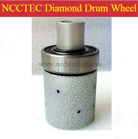 2'' 50mm NCCTEC Brazed Coarse Diamond Drum Wheel for grinding hard granite with guide bearing FREE shipping | 70*50mm 2pk diamond double row grinding cup wheel for granite and hard material diameter 4 5 115mm bore 22 23mm with 16mm washer
