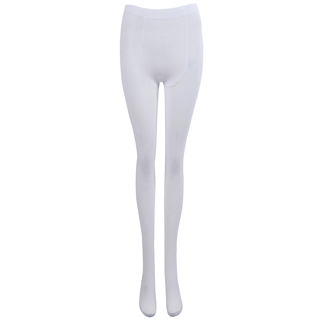 White Tender Solid Color Velvet Pantyhose For Women