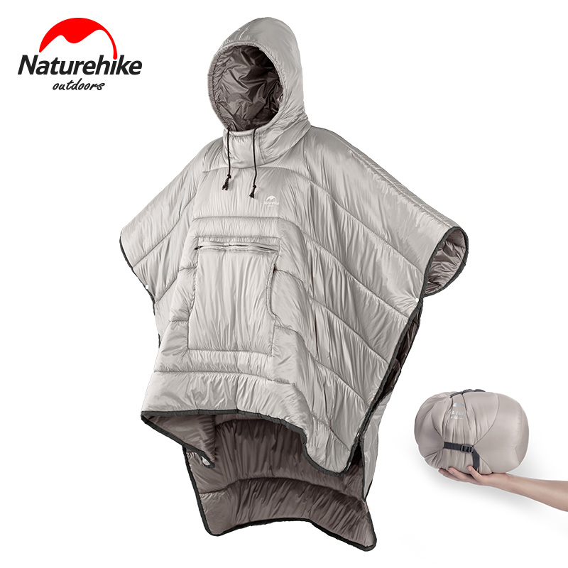 Naturehike Winter Poncho Outdoor Camping Warmth Small Quilt Ultralight Water-resisitant Sleeping Bag Cloak