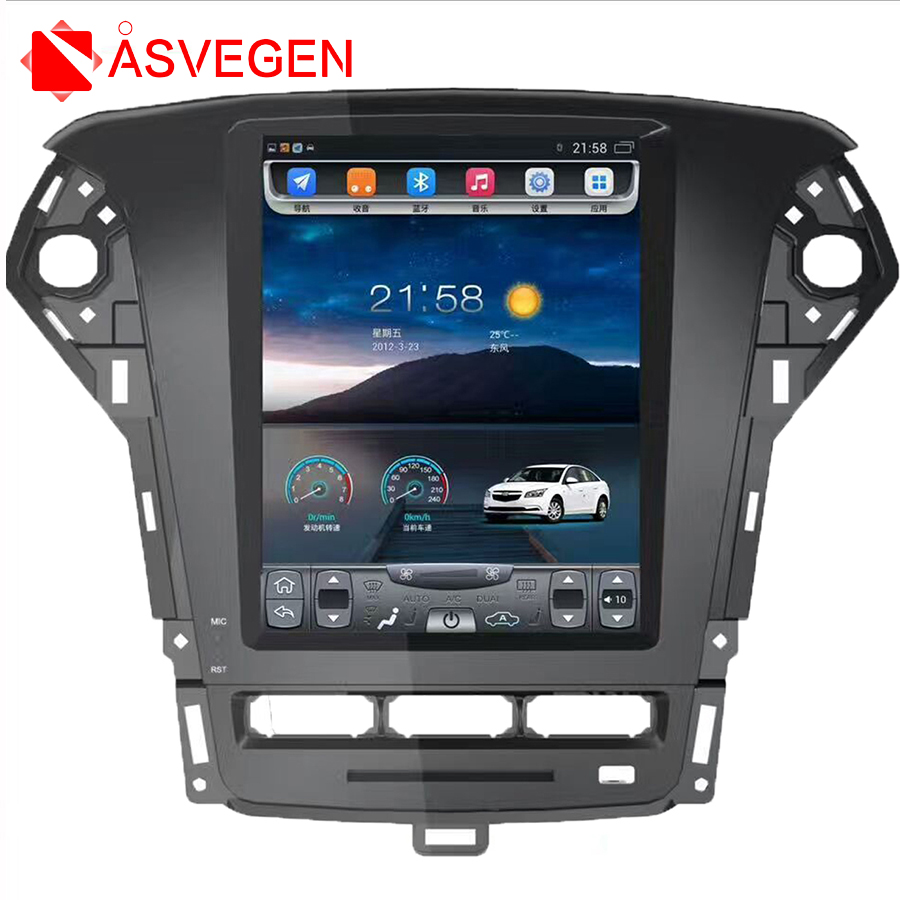 Asvegen 10.4 Vertical Screen Car Audio Stereo Radio For Ford Mondeo 2011-2013 Android 6.0 DVD GPS Navigation Multimedia Player