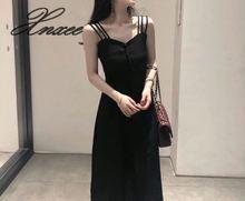 2019 summer new strap dress strapless waist slim female
